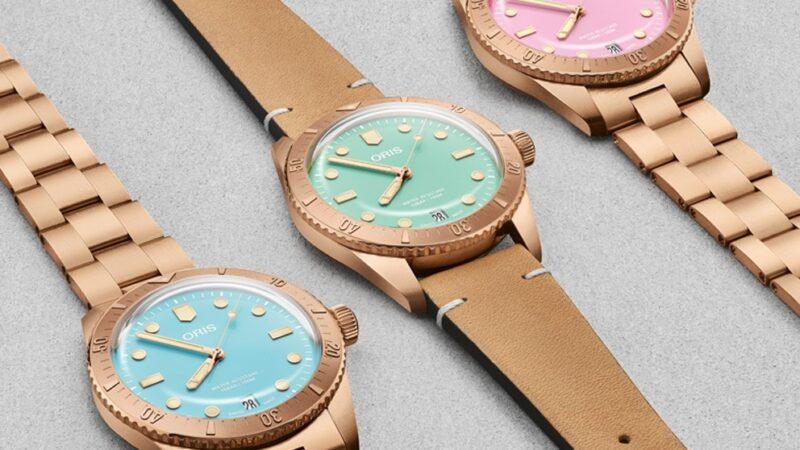 """ألوان حلوى غزل البنات تزين ساعات """"Oris """" السويسرية الجديدة"""