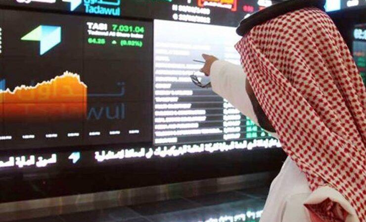الخسارة الاولي لمؤشر الأسهم السعودية بعد ارتفاعه 6 جلسات متتالية