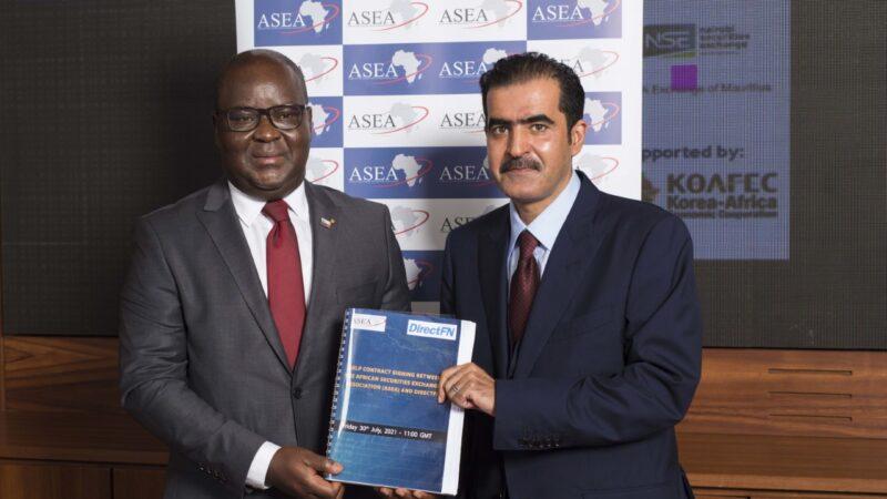"""""""دايركت إف ان"""" توقع عقداً مع جمعية بورصات الأوراق المالية الأفريقية لربط 7 بورصات افريقية"""
