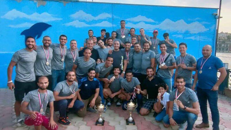 """فريق """"إم آر"""" الرياضي يفوز ببطولة التجديف الاولمبي في مصر"""