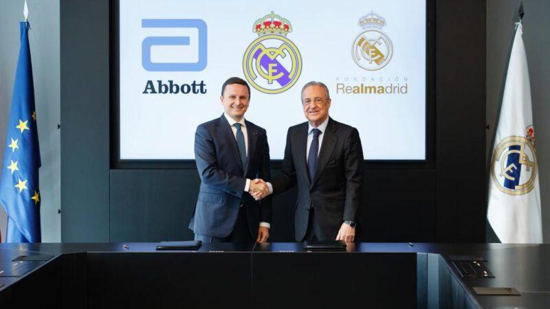 """اتفاقية شراكة تجمع """"أبوت"""" مع ريال مدريد  لدعم علوم الصحة"""